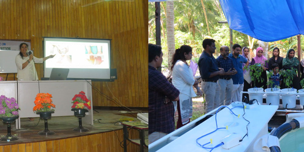hydrilla gave awareness about aquaponics & hydroponics workshop in lakshdeep